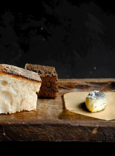 sourdough bread with smoked butter